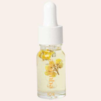 Flacon d'huile CBD 10% à large spectre Equilibre et fleurs medicinales d'immortelle