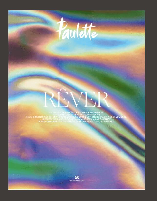 couverture magazine Paulette, numero 50 : REVER