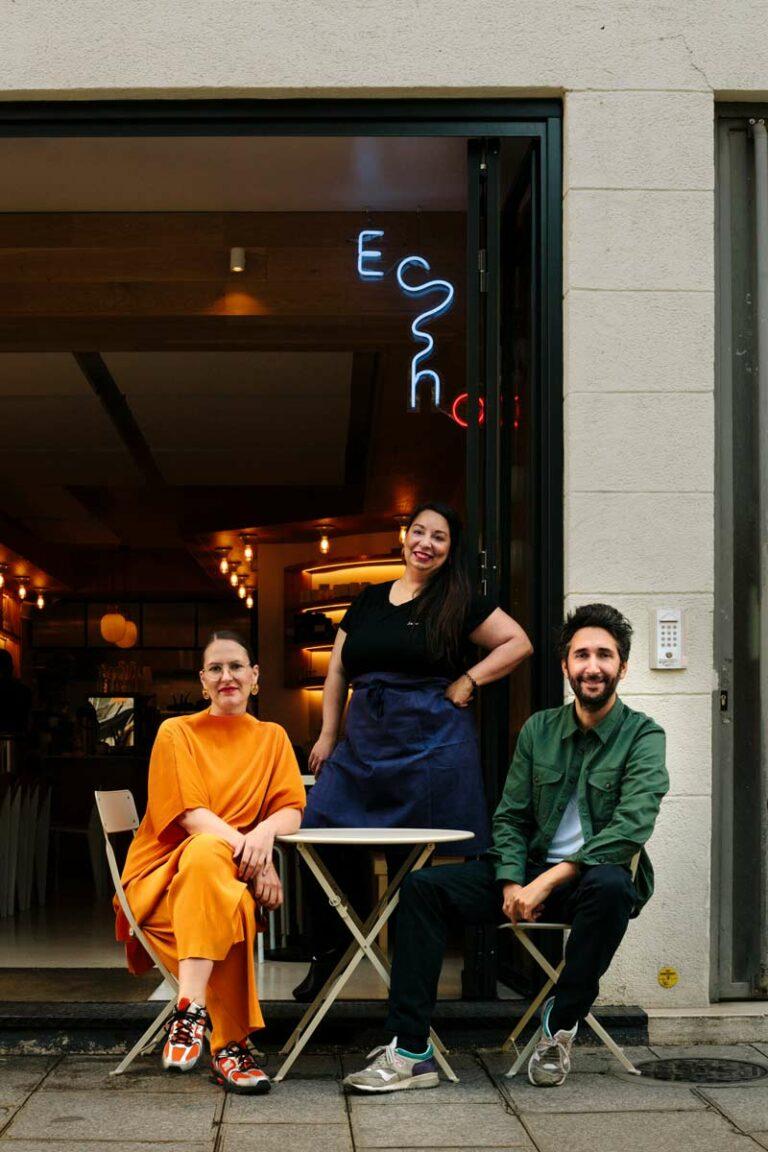 l'equipe du restaurant Echo et la fondatrice de Equilibre Léa RUELLAN, pour leur collaboration