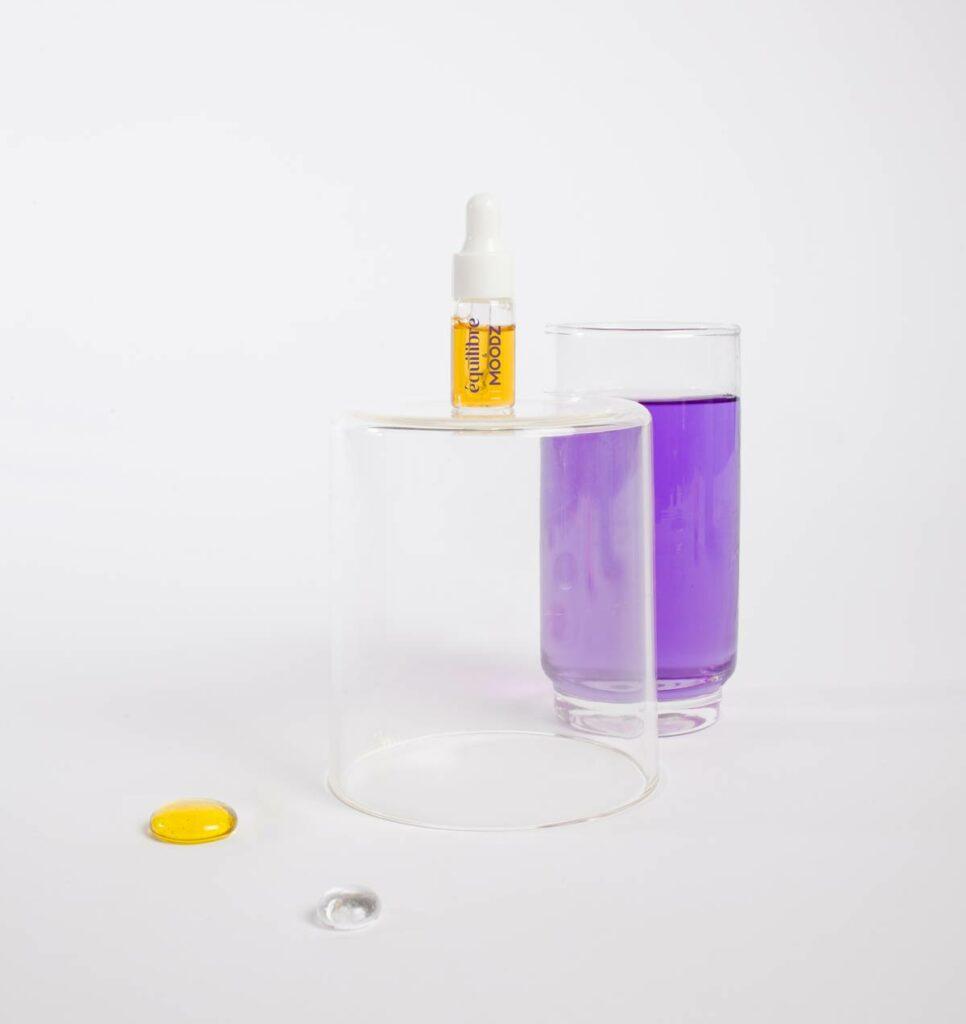 Huile de CBD hydrosoluble Equilibre crée avec MOODZ